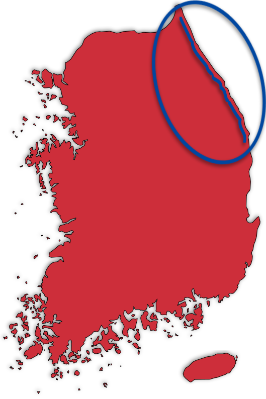 East Coast (Gyeongbuk) Map