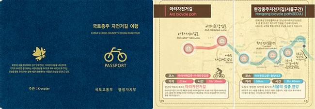 A picture of the Korean Bike Passport book.
